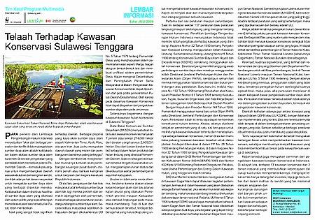 FS0907 Telaah Terhadap Kawasan Konservasi Sulawesi Tenggara